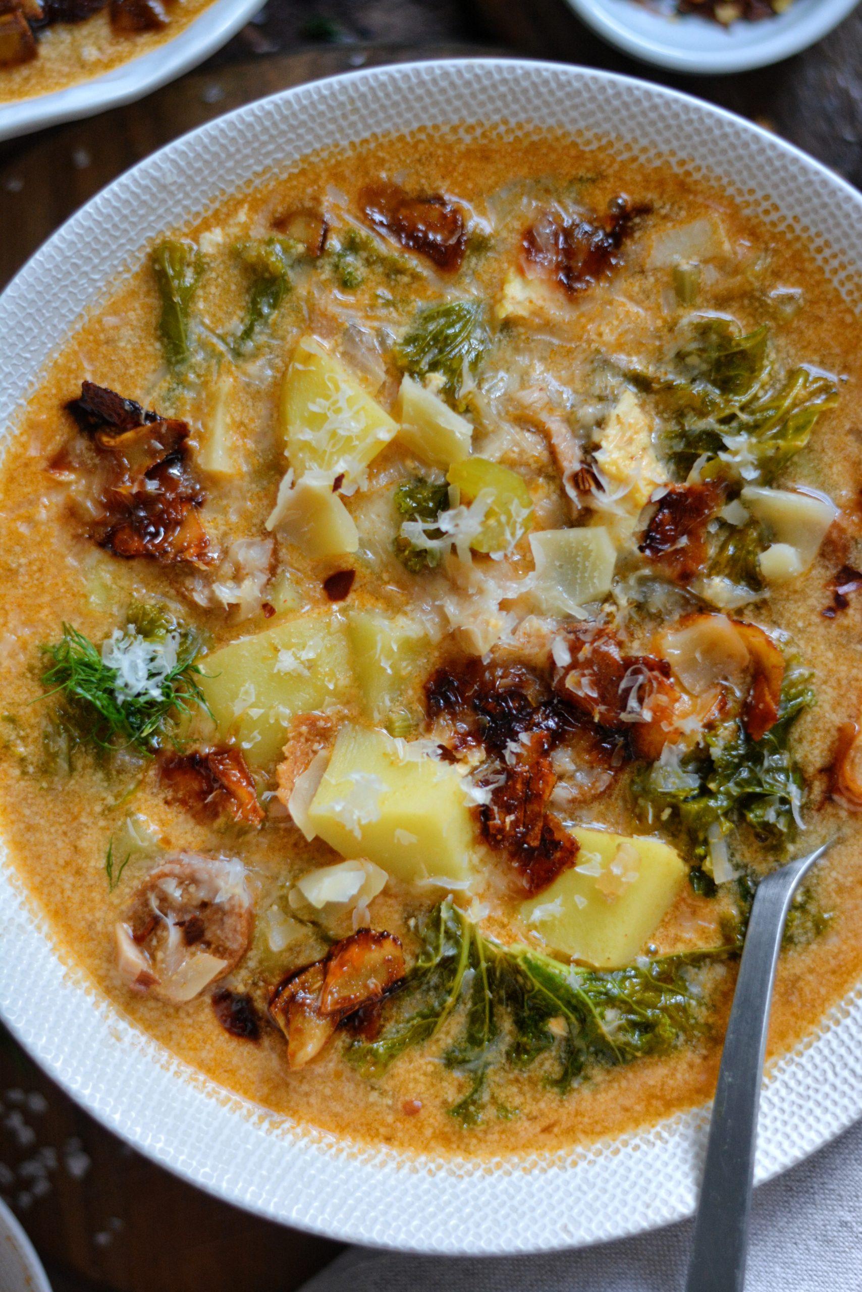 Soupe Toscane Vegan au Kale et Bacon / Vegan Kale and Bacon Zuppa Toscana