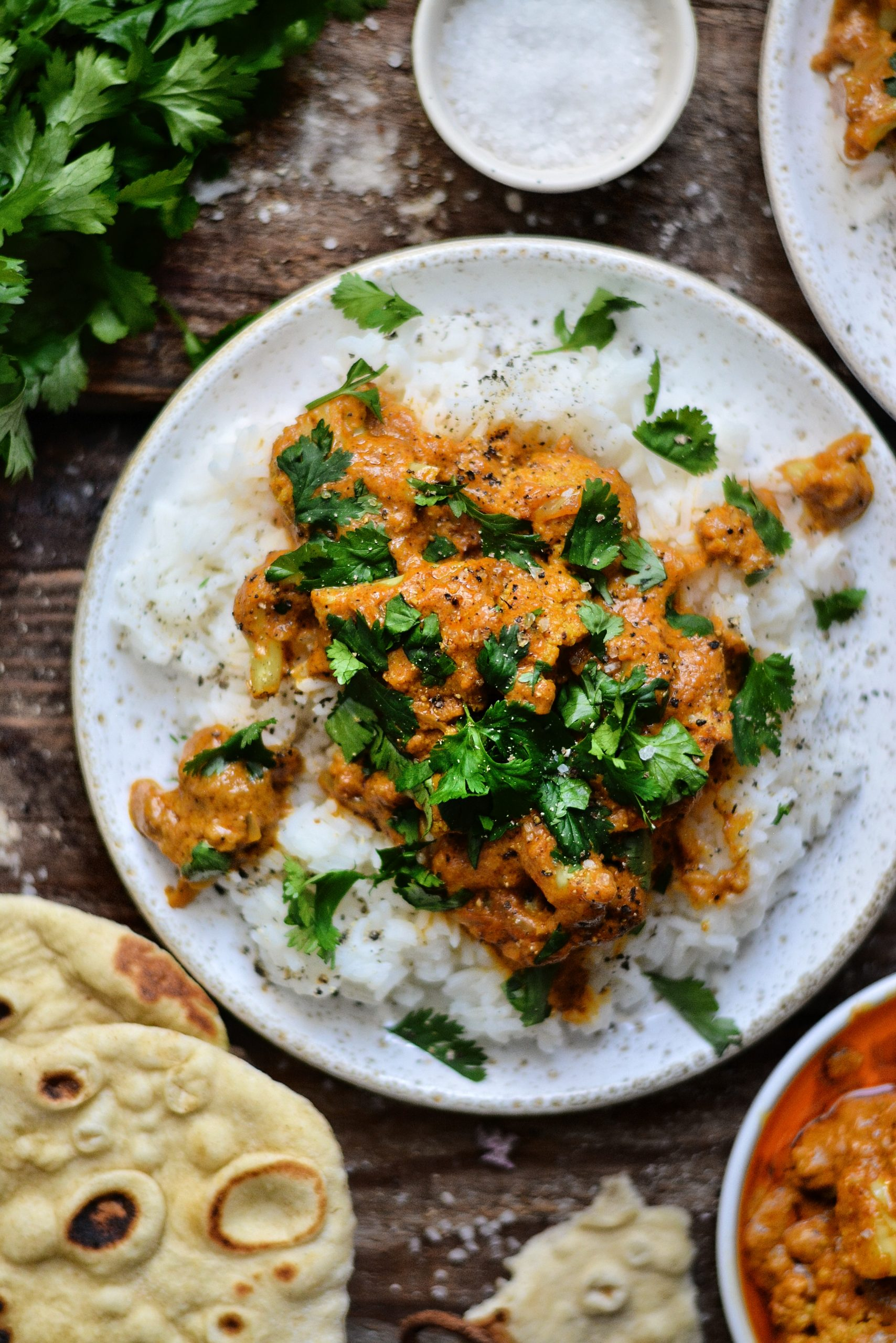 Curry Indian Vegan con coliflor / Vegan Curry de coliflor indio