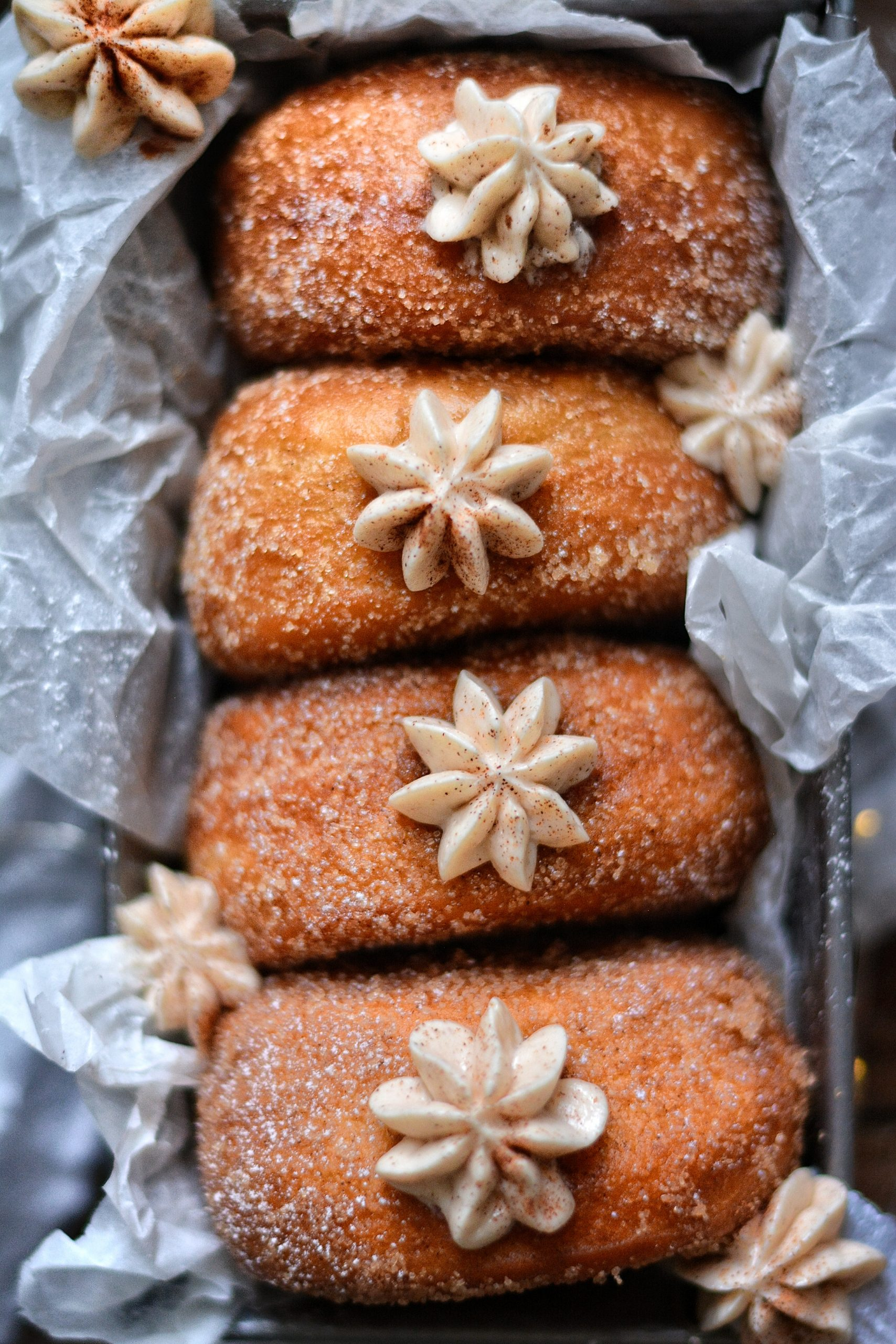 Donuts Vegan au Beurre de Pommes / Vegan Apple Donuts (Doughnuts)