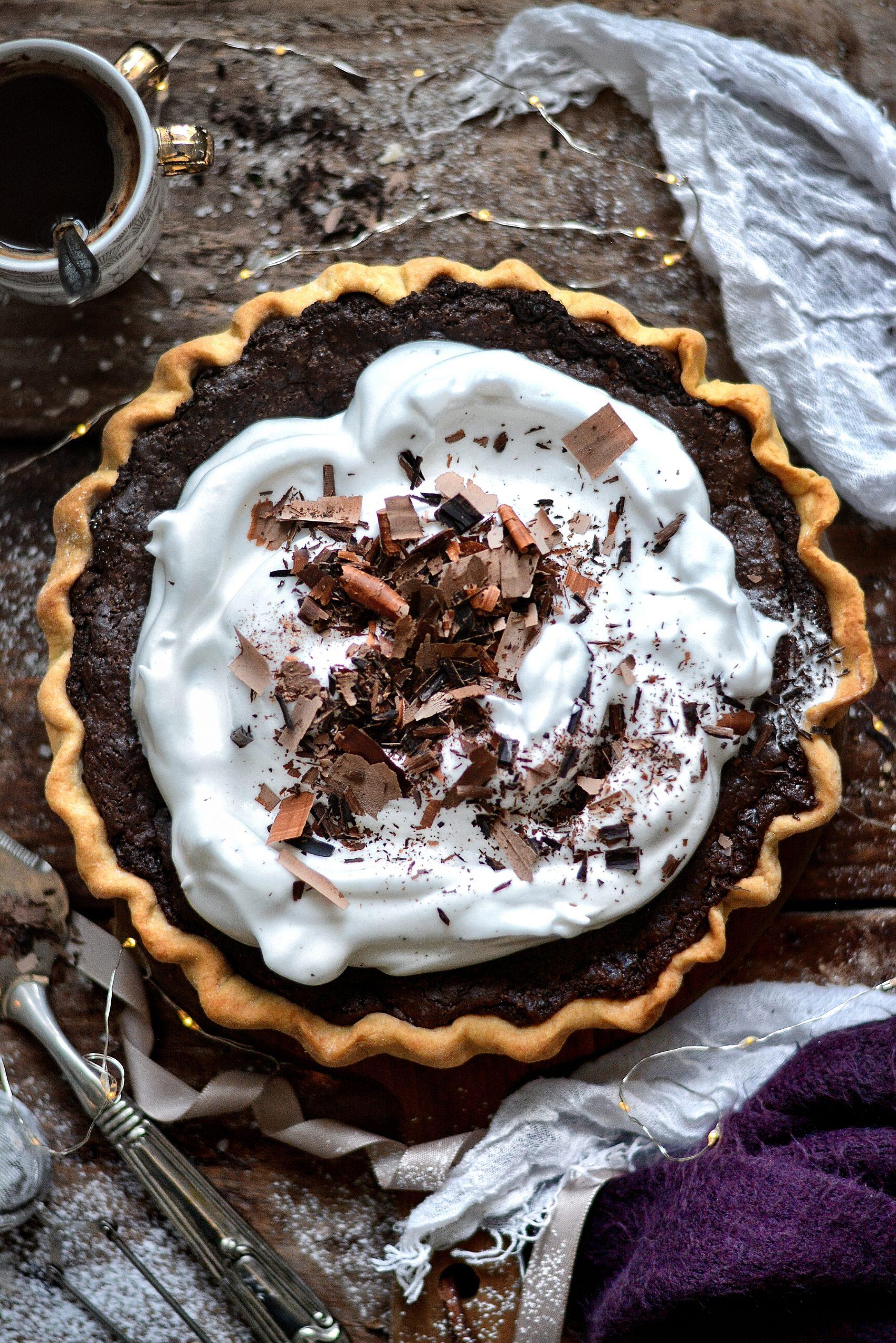 Tarte Brownie Vegan Facile / Super Easy Vegan Brownie Pie