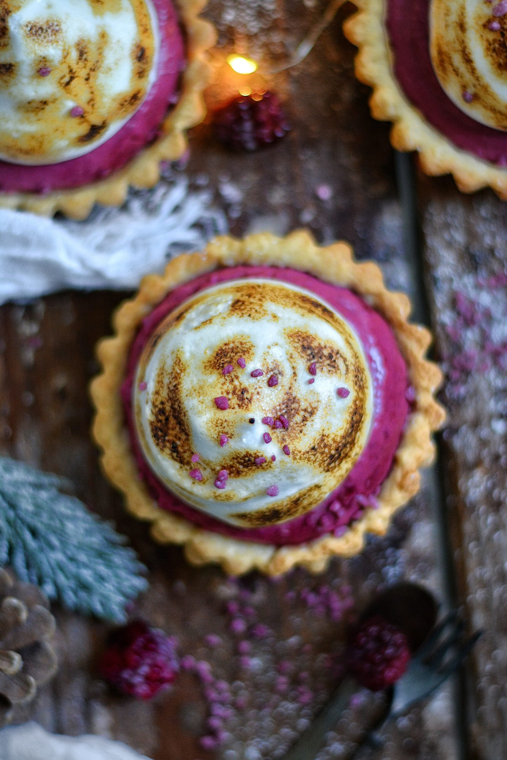 Tartelettes Vegan Mûres et Meringue / Vegan Blackberry and Meringue Tartlets