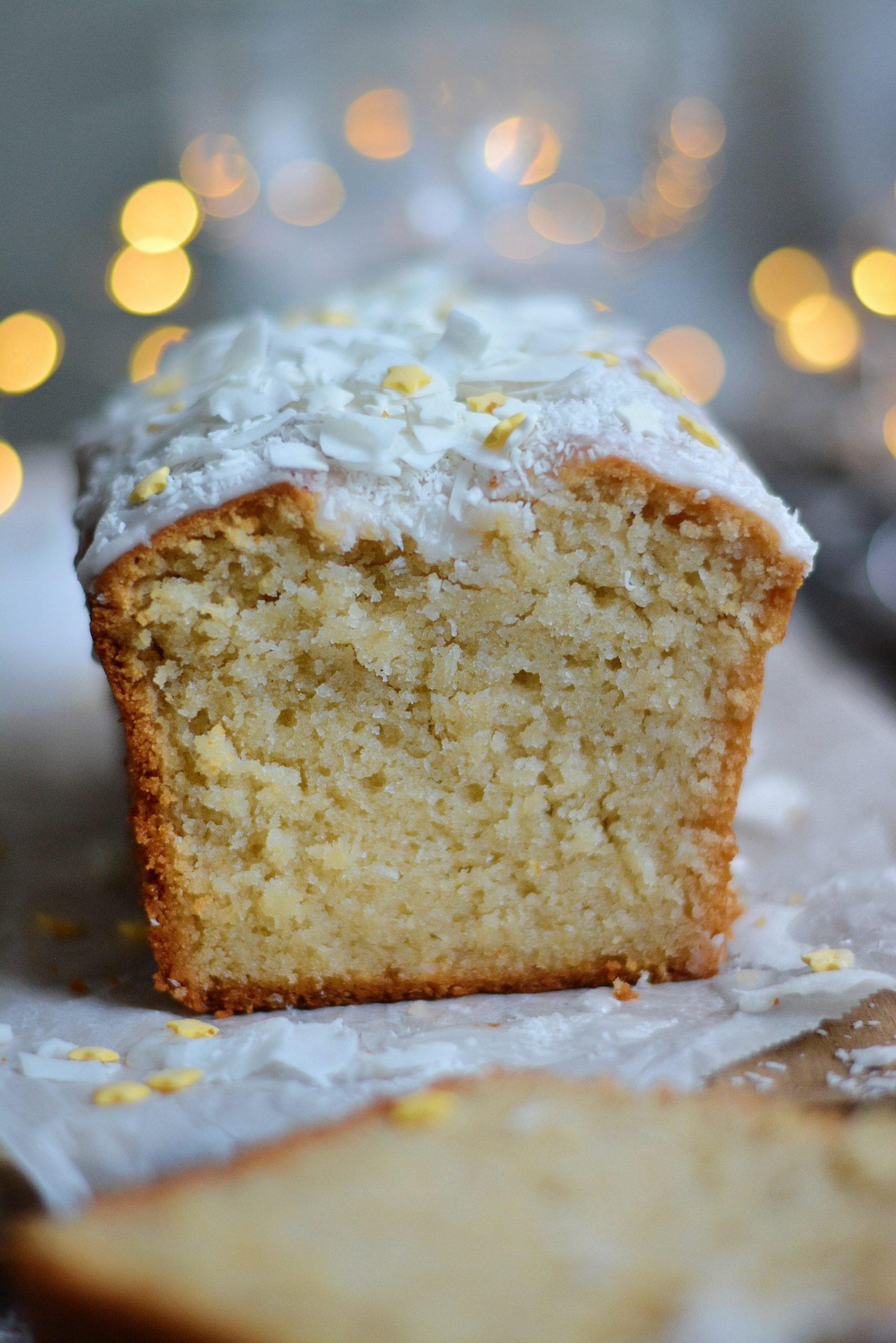 Cake Vegan à la Noix de Coco et Lemon Curd / Vegan Coconut and Lemon Curd Loaf Cake