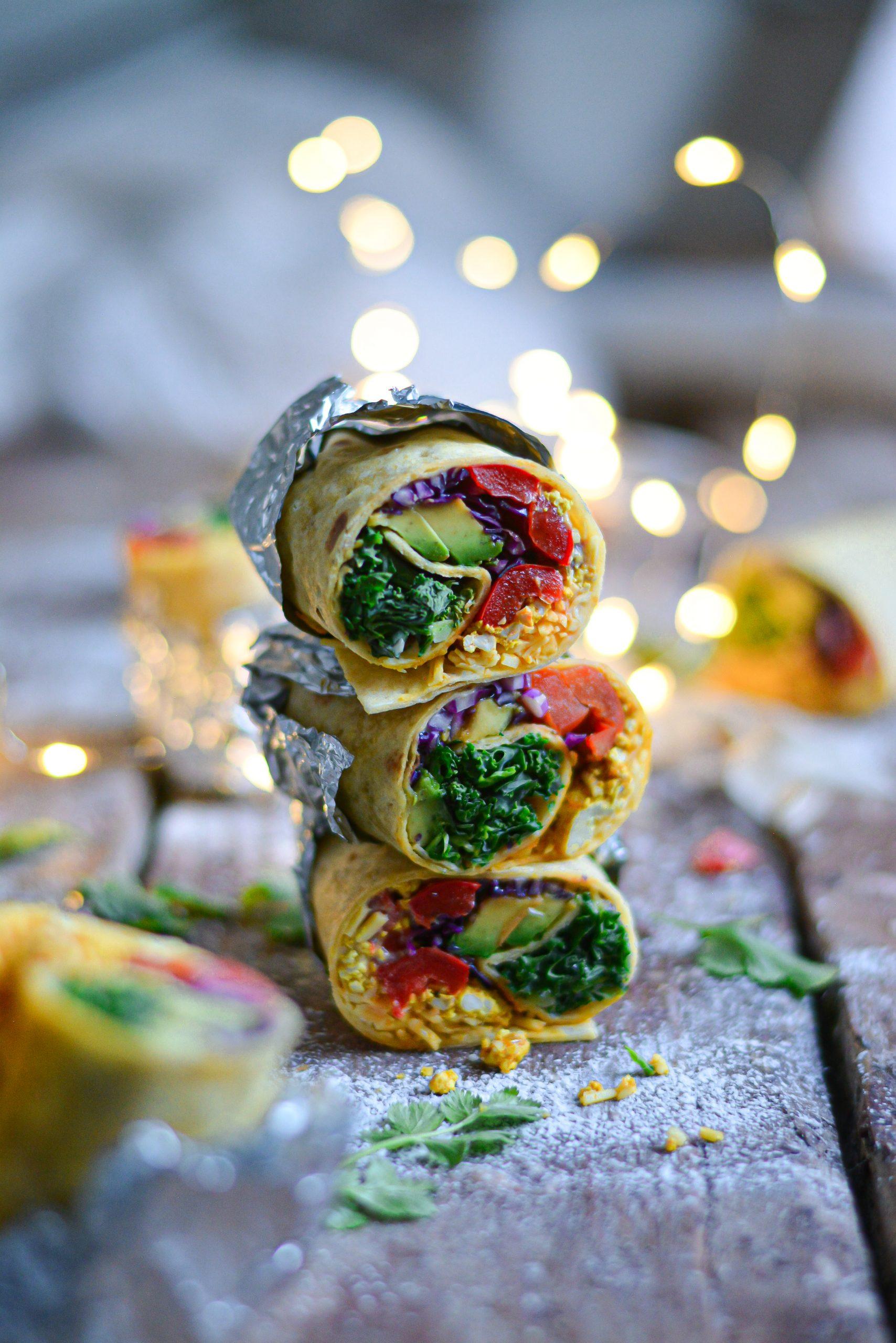 Burrito Vegan Faciles Sans Gluten au Petit Déjeuner / Easy Gluten Free Vegan Breakfast Burrito
