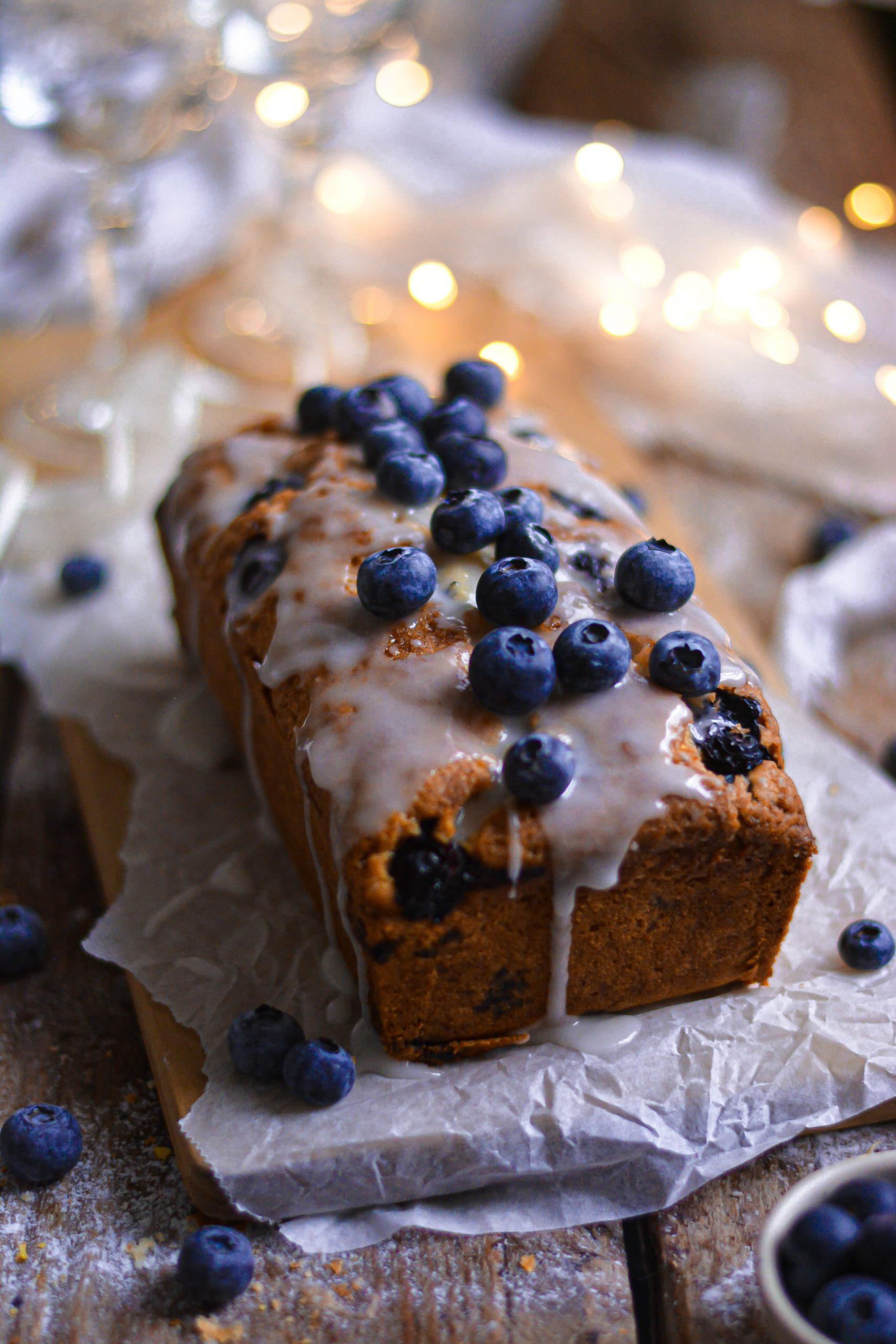 Cake Vegan Citron et Myrtilles / Vegan One Bowl Lemon and Blueberry Loaf Cake