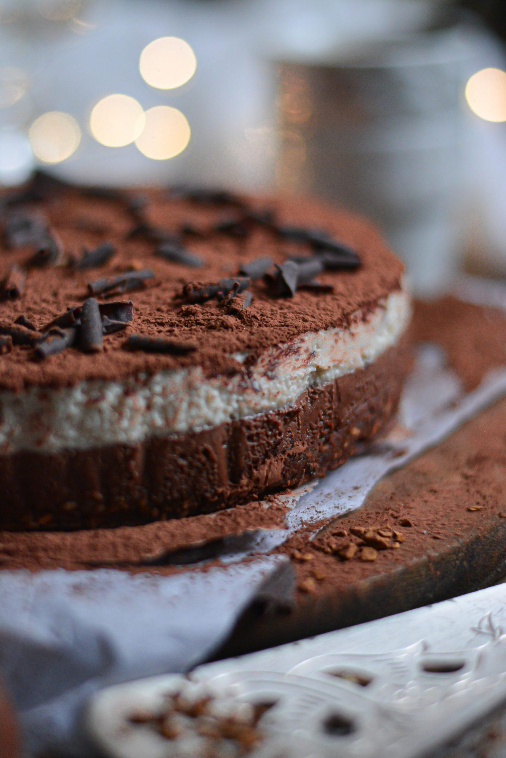 Gâteau Tiramisu Vegan Sans Cuisson Ni Gluten / Vegan Gluten Free No Bake Tiramisu Cake