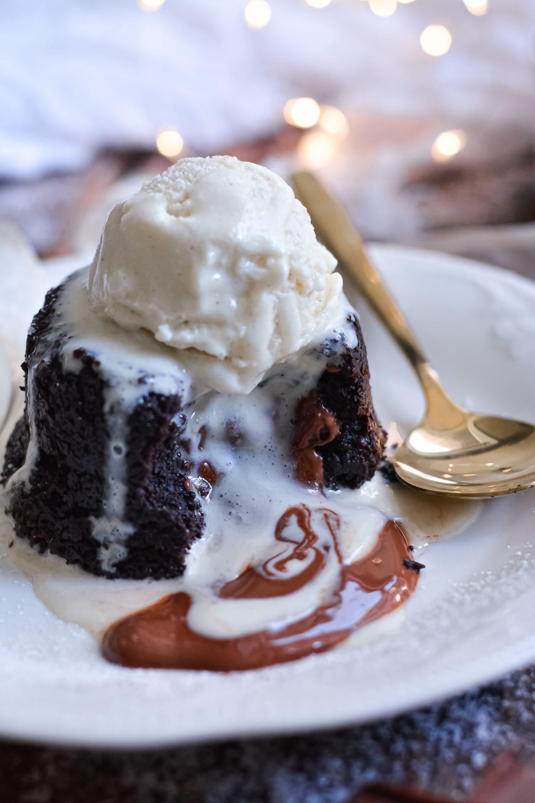Mi-Cuit au Chocolat Vegan / Vegan Molten Lava Chocolate Cake