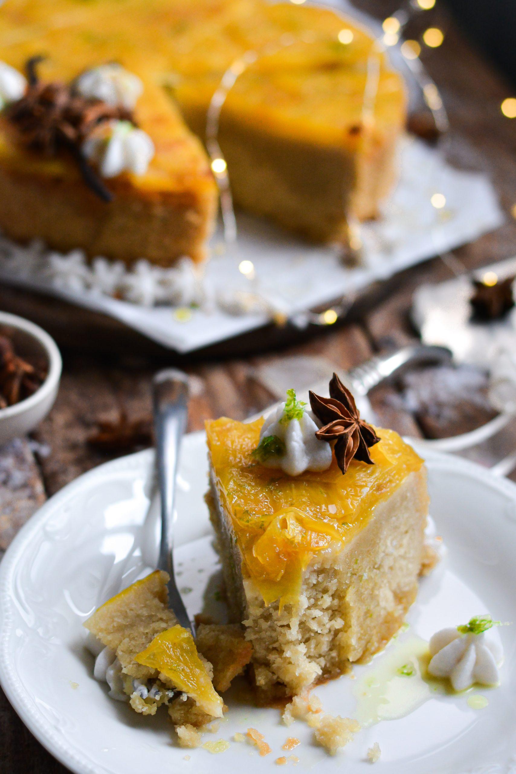 Gâteau Renversé Vegan Ananas et Citron Vert / Vegan Pineapple and Lime Upside Down Cake