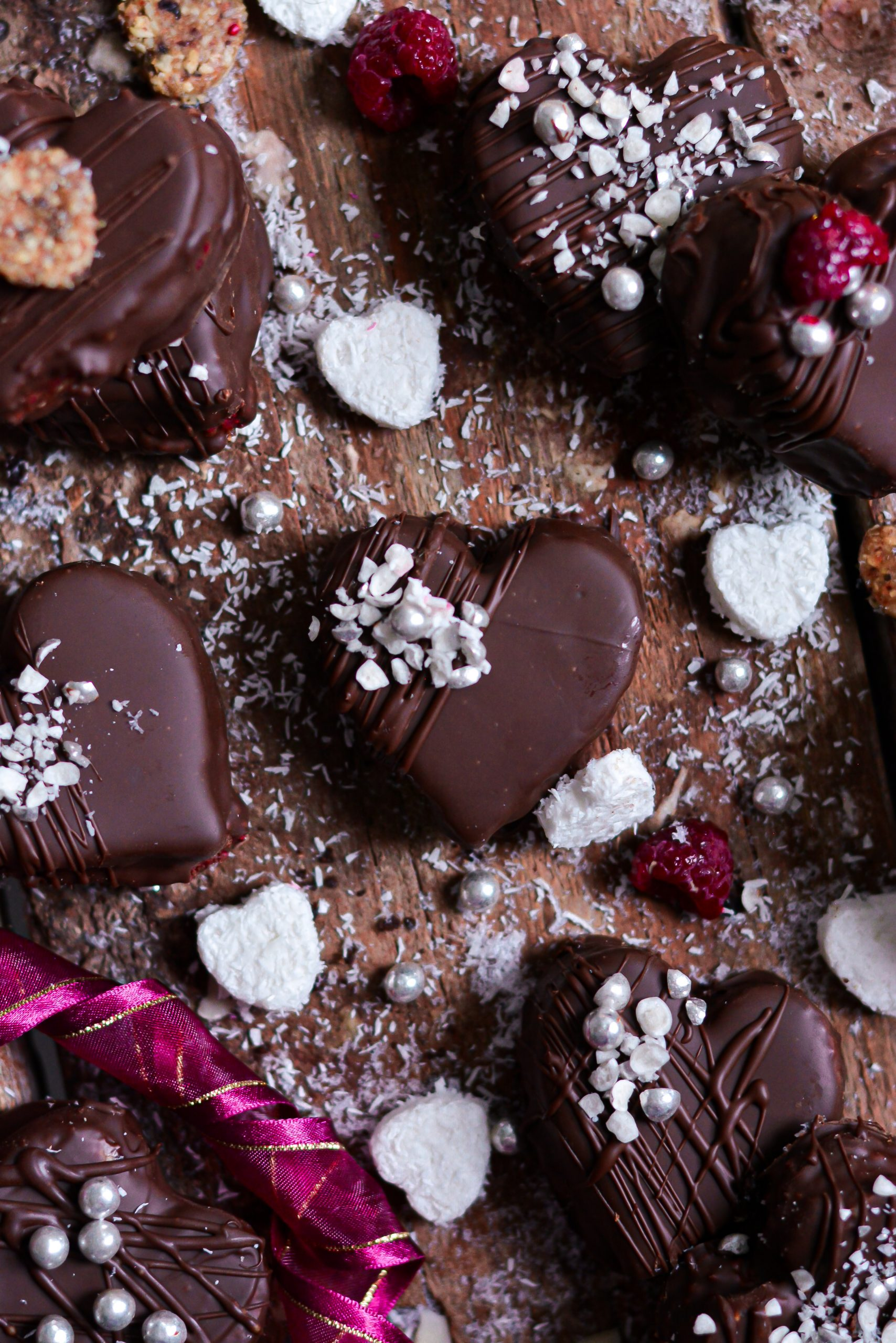 Biscuits Vegan Choco-Framboise Saint Valentin / Vegan No Bake Valentine's Day Cookies