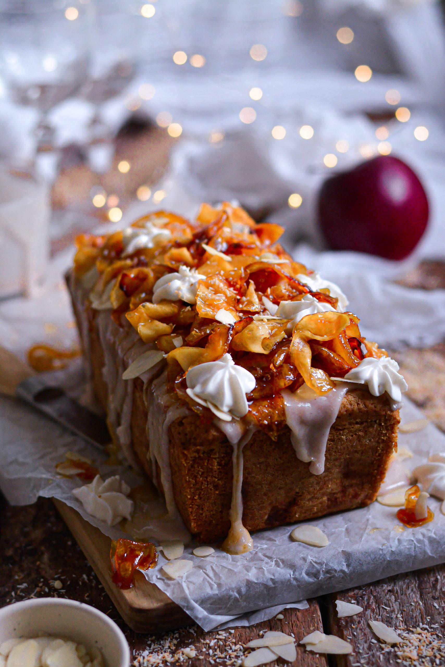 Cake Vegan Facile aux Pommes / Easy Vegan Apple Loaf Cake