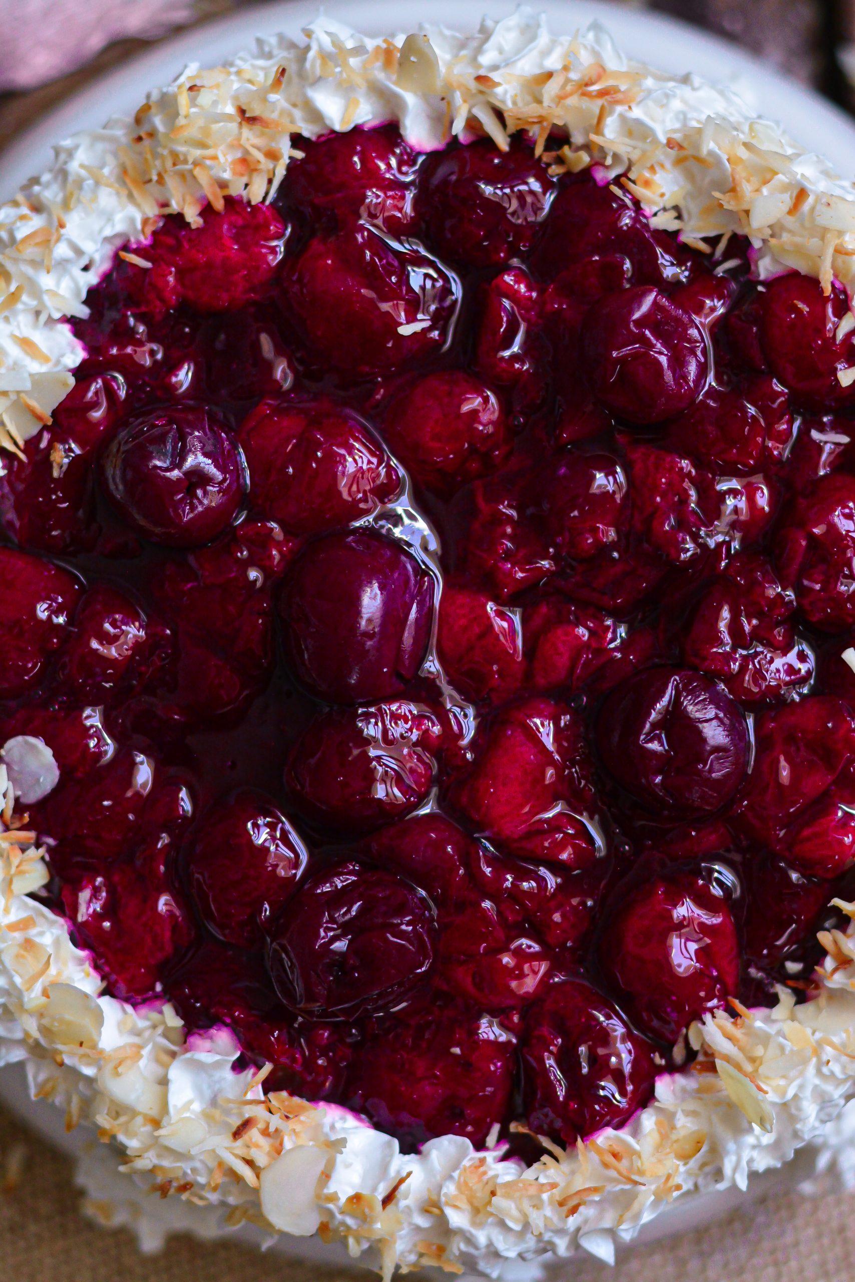 Cheesecake Vegan Vanille et Griottes / Vegan Vanilla Cheesecake and Sour Cherry