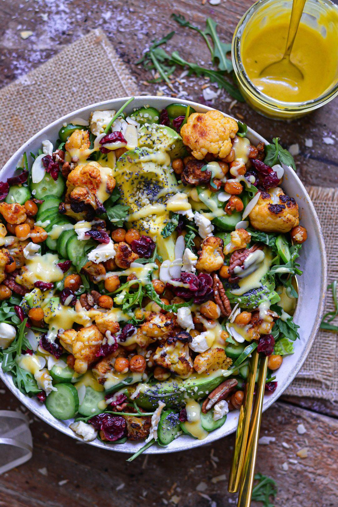 Salade Vegan Chou-Fleur et Pois Chiches / Vegan Roasted Cauliflower & Chickpeas