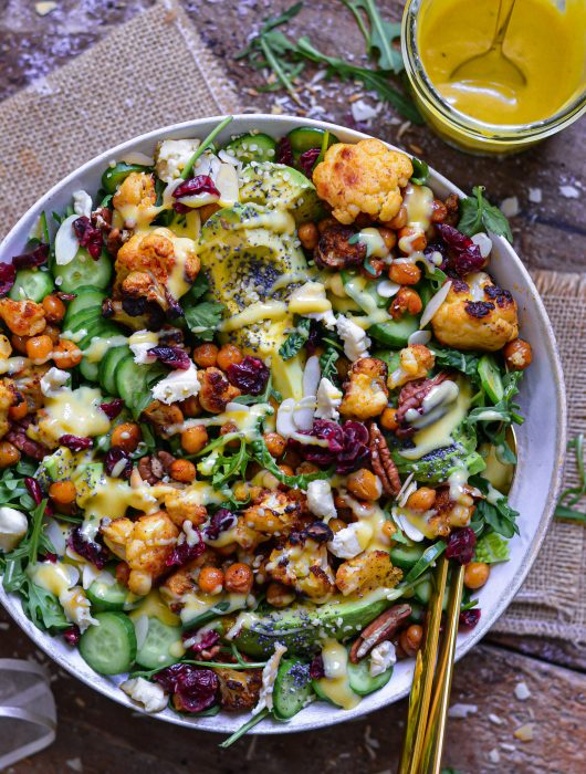 Salade Vegan Chou-Fleur et Pois Chiches / Vegan Roasted Cauliflower & Chickpeas