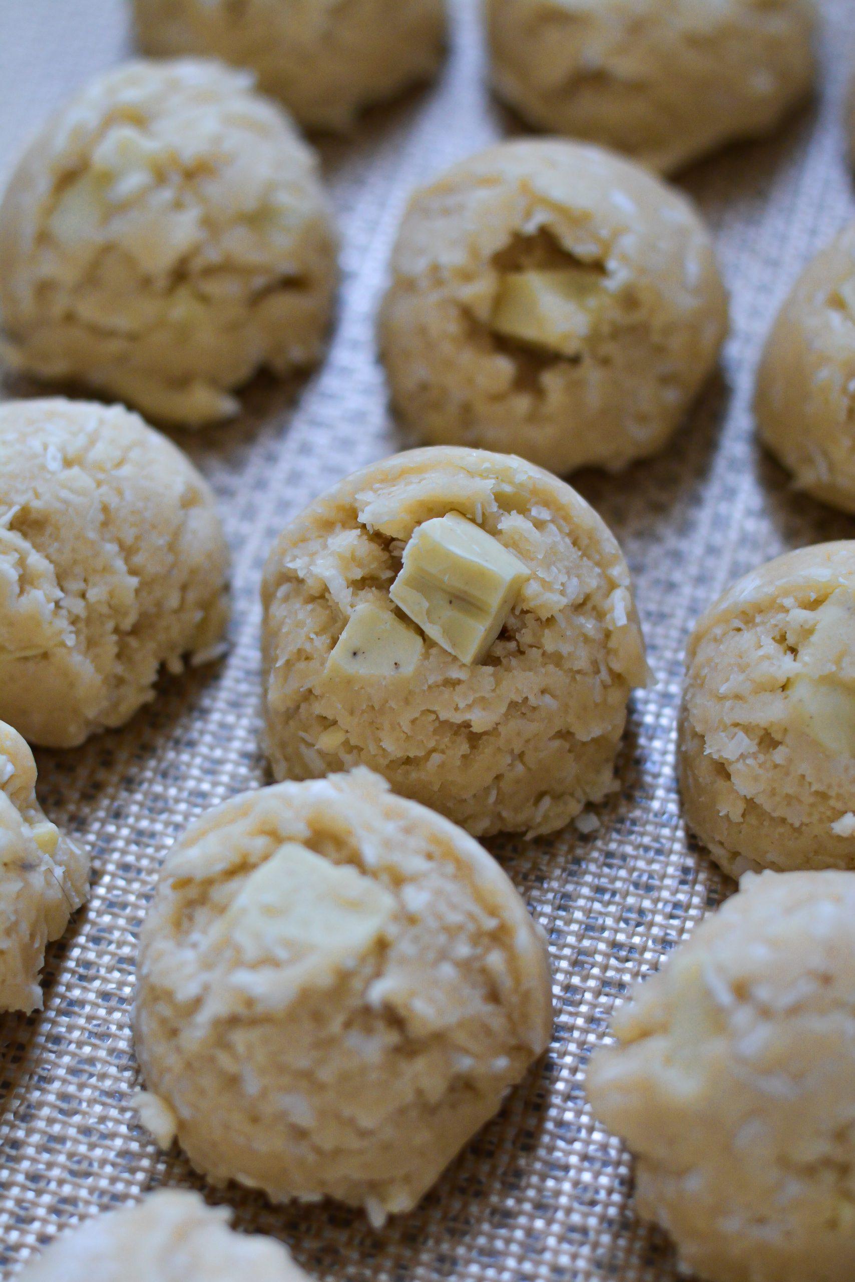 Cookies Vegan Chocolat Blanc et Noix de Coco / Vegan White Chocolate and Coconut Cookies