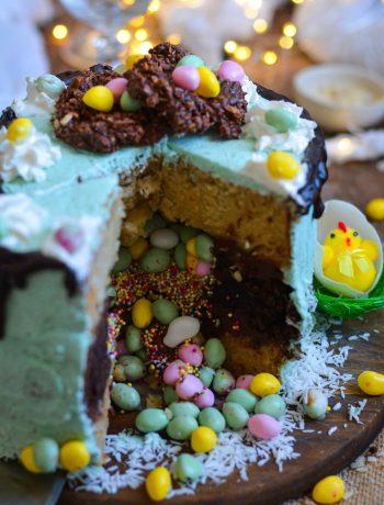 Gâteau Vegan Pinata pour Pâques / Vegan Easter Pinata Cake