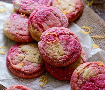 Cookies Vegan Marbrés au Citron / Vegan Marbled Lemon Cookies