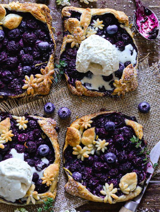 Tartelettes Vegan aux Myrtilles / Vegan Juicy Blueberry Tarts