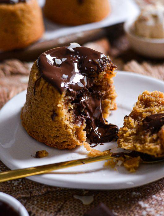 Mini Gâteaux Vegan Beurre de Cacahuète, Chocolat / Mini Vegan Peanut Butter, Chocolate Cakes
