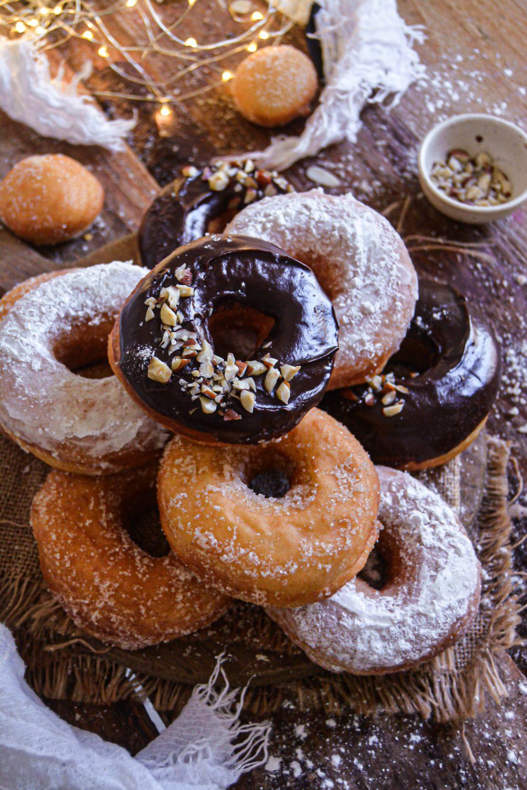 Donuts Vegan à la Cannelle / Vegan Cinnamon Doughnuts