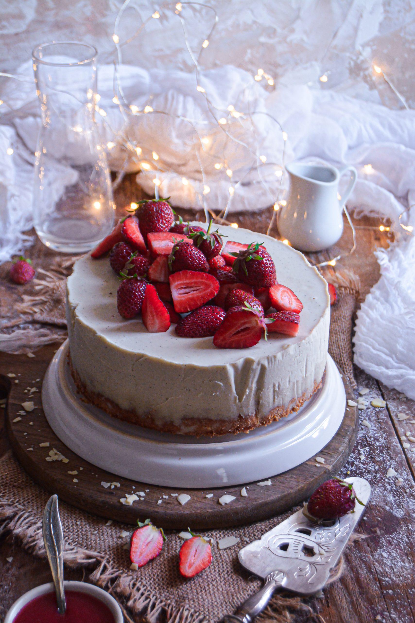 Gâteau Vegan Ananas & Cheesecake Fraise / Vegan Pineapple Cake & Strawberry Cheesecake