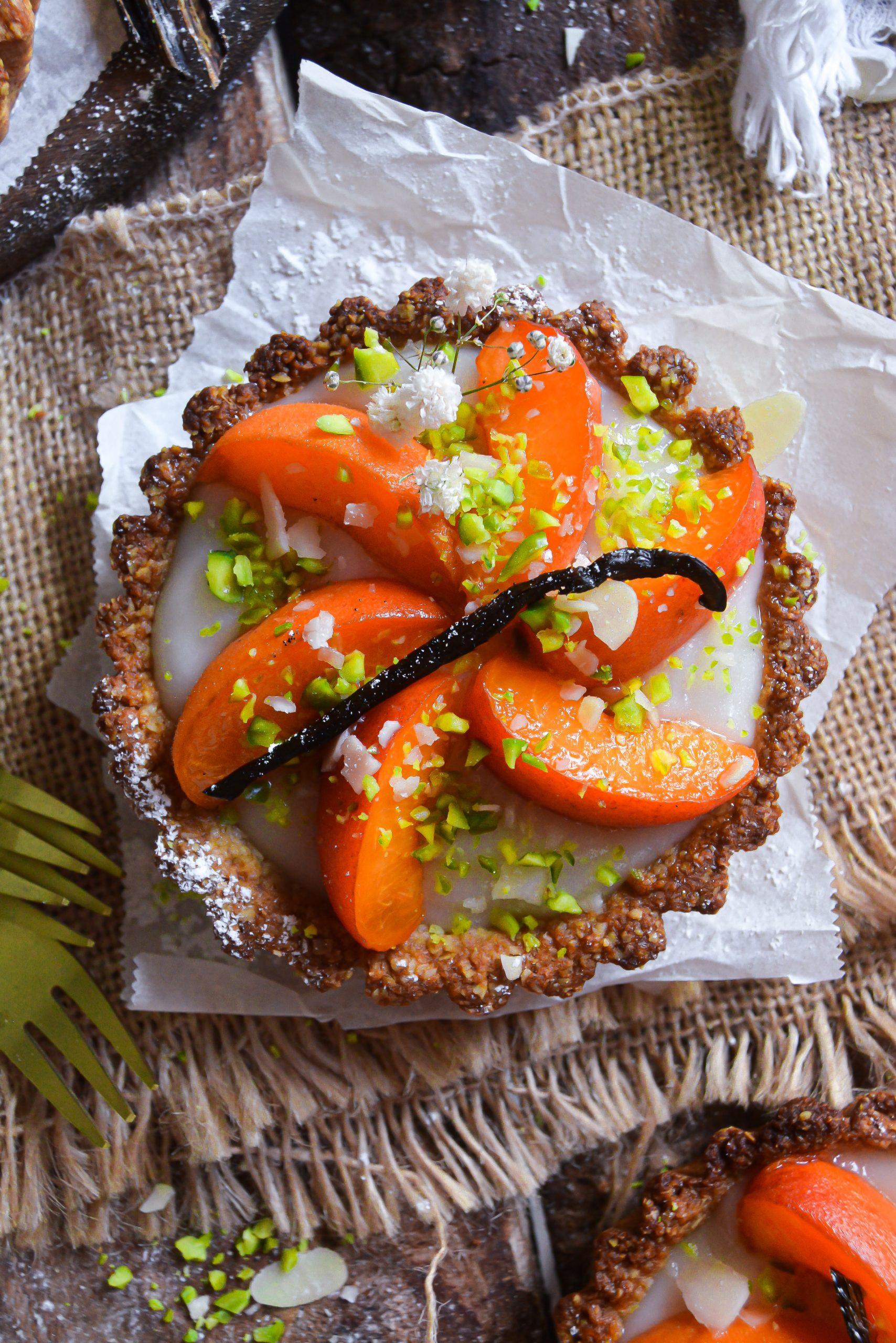 Tartelettes Vegan Sans Gluten aux Abricots / Vegan Gluten Free Apricots Tartlets
